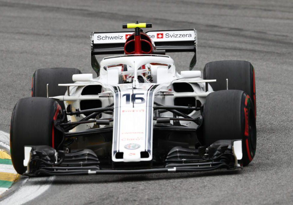 Charles Leclerc, Alfa Romeo Sauber C37 at Formula One World Championship, Rd20, Brazilian Grand Prix, Qualifying, Interlagos, Sao Paulo, Brazil, Saturday 10 November 2018.